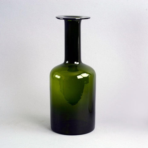 "Green glass ""Carnaby"" vase by Michael Bang for Holmegaard"