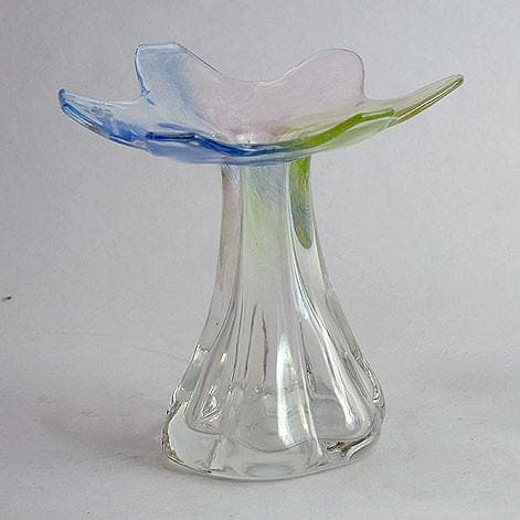 Iridescent glass vase by Helena Tynell for Riihimaen Lasi Oy
