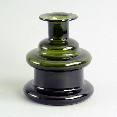 "Green ""I-glass"" vase by Timo Sarpaneva for Iittala"