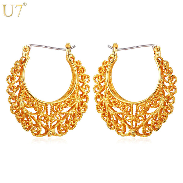 Fashion Chic Gold Plated Hoop Earrings