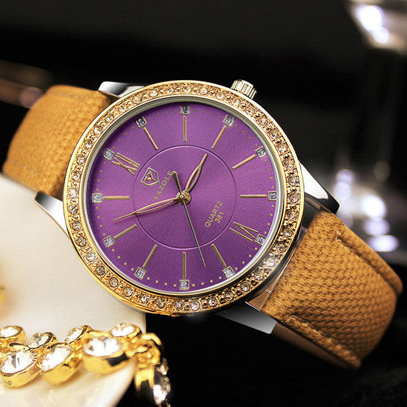 Colorful Causal round shock resistant Watch