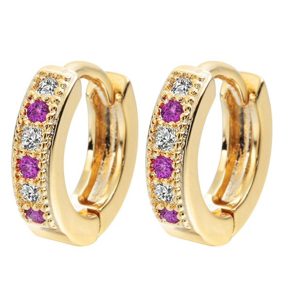 Classic Colorful Baby Hoop Earrings