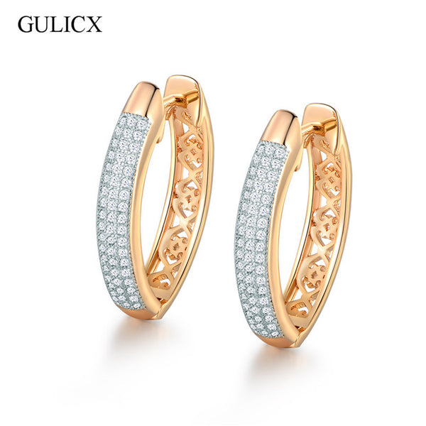 Jazzy Gold Platinum Hoop Earrings