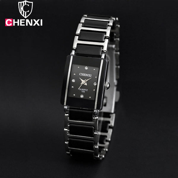 Engaging Ceramic Band Shock & Water Resistant Watch