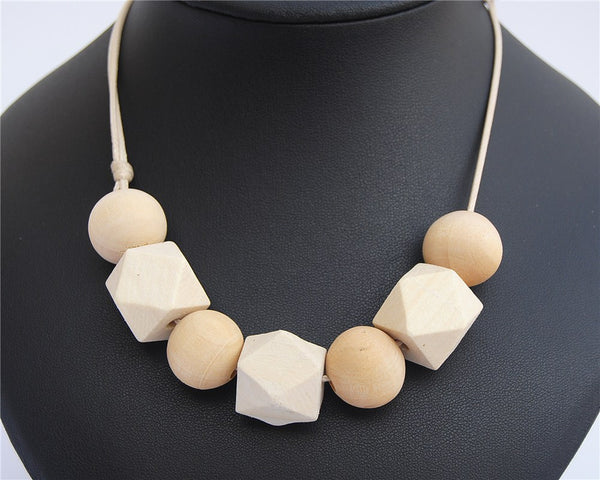Handmade 1pc Unfinished Natural Wood Round Necklace