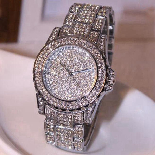 Alluring Crystal Quartz Water & Shock Resistant Watch