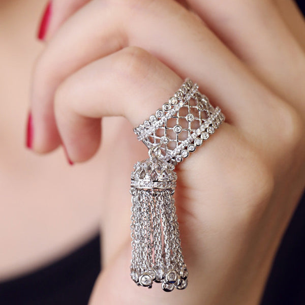Beautiful Tassel Pinkie Adjustable Joint Ring