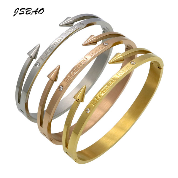 Eternal Love Nail Crystal Cuff Bracelet