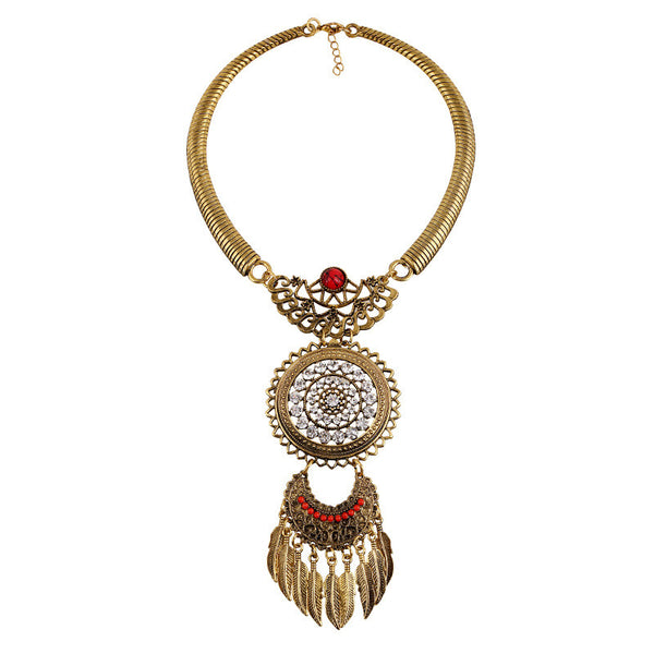 Casual Dream Catcher Statement Necklace