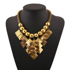 Trendy Vintage Big Collar Statement Necklace