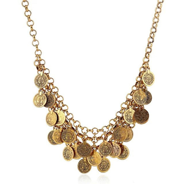 Fine Vintage Chunky Coin Necklace
