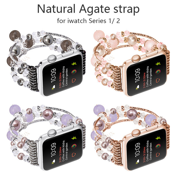 Natural Jade Agate Apple Watch Band