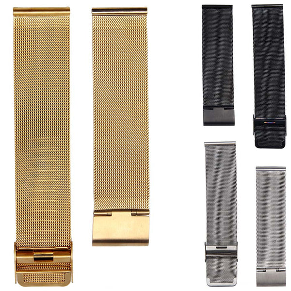Stainless Steel  Straight End Bracelet Watch Band