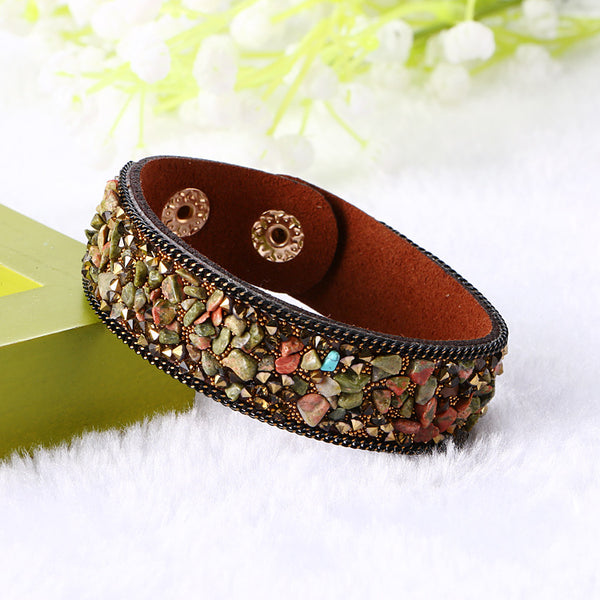 Fine Imitation Crystal Natural Multicolor Bracelet