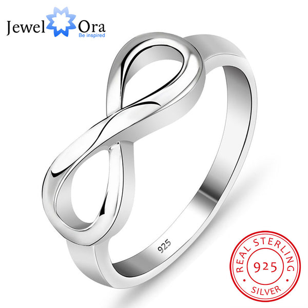 925 Stamped Sterling Silver Infinity Ring