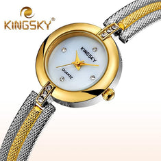 Fashion Bracelet Watch with Ultra Thin Strap - Diamonds And Hoops Fashion Jewelry