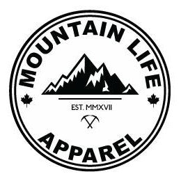 SMALL WHITE MLA STICKER - Mountain Life Apparel - MTN LIFE
