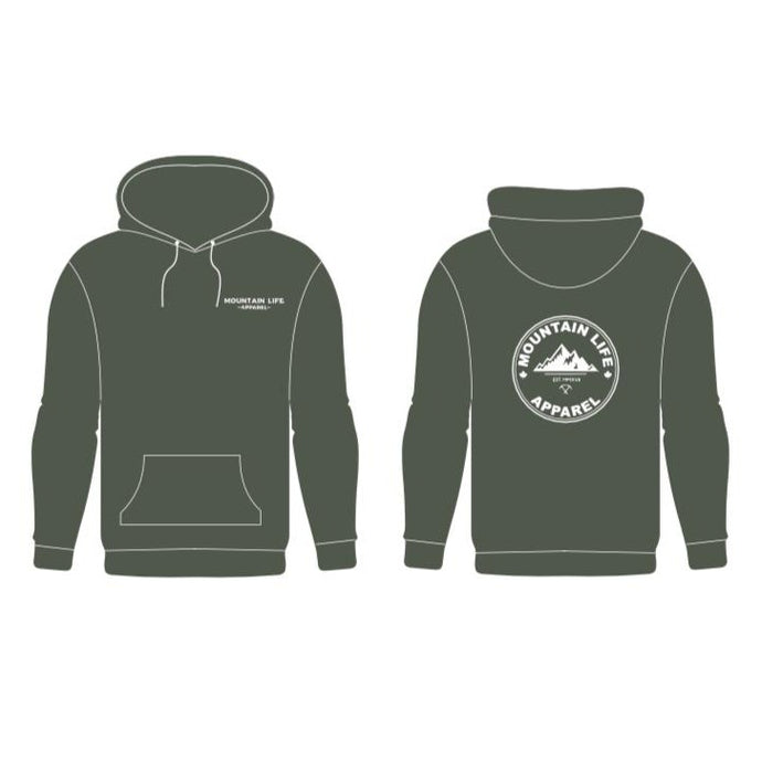 OLIVE YOU GREEN HOODIE - Mountain Life Apparel