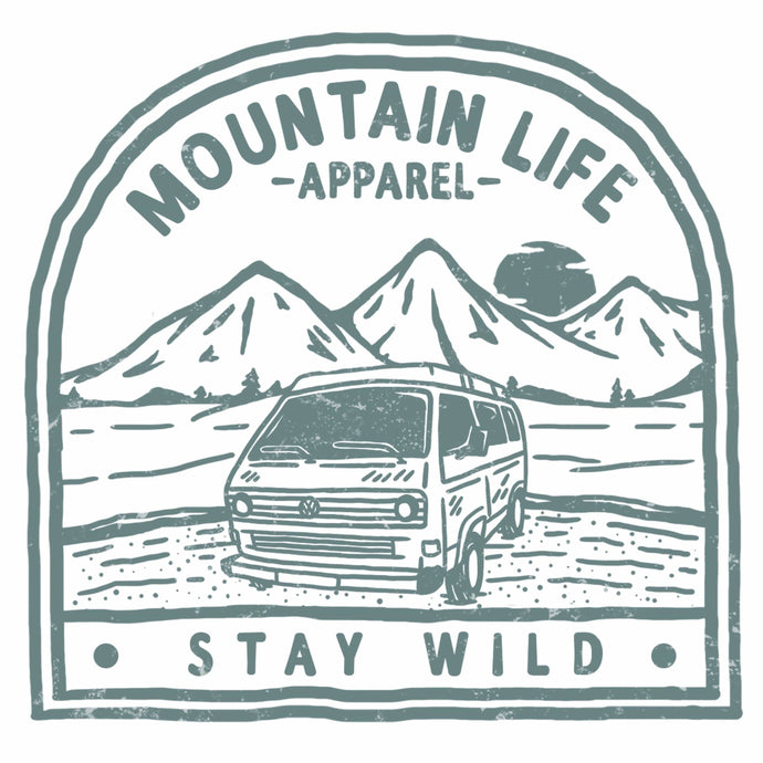 VIRIDIAN GREEN STAY WILD STICKER - Mountain Life Apparel