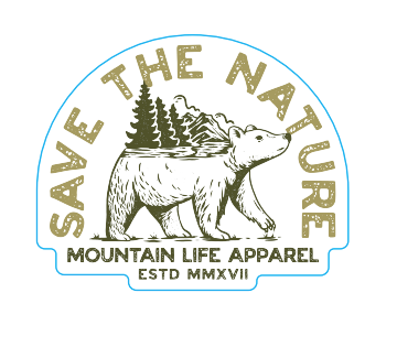 SAVE THE NATURE STICKER - Mountain Life Apparel | Shop Hiking, adventure clothing online!