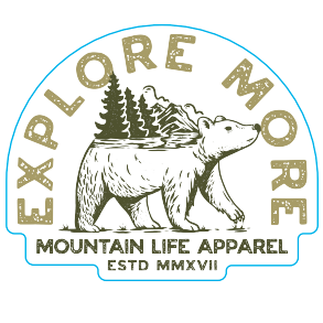 EXPLORE MORE STICKER - Mountain Life Apparel | Shop Hiking, adventure clothing online!