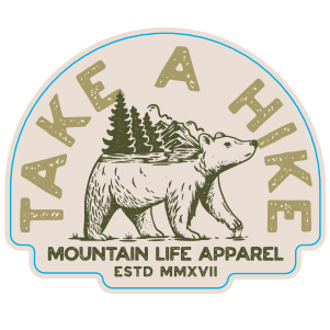 TAKE A HIKE STICKER - Mountain Life Apparel | Shop Hiking, adventure clothing online!