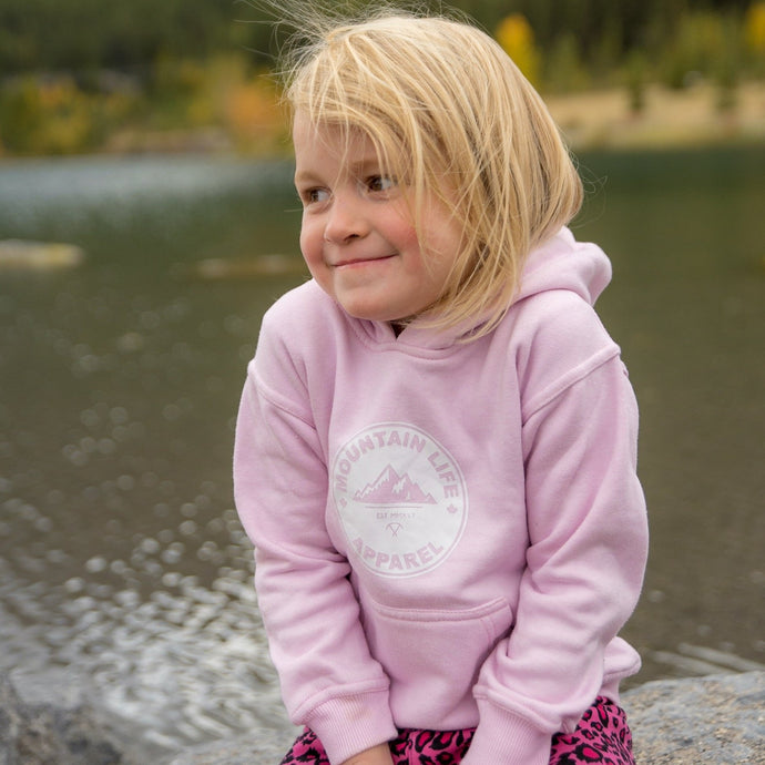 KIDS PINK PANTHER HOODIE - Mountain Life Apparel