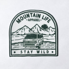 ARMY GREEN STAY WILD STICKER - Mountain Life Apparel