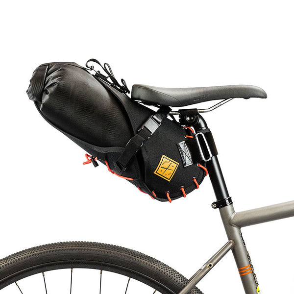 Saddle Bag Holster + Dry Bag ( 8 litres) Black/Orange