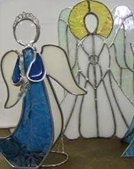 3-D Stained Glass Standing Angel:
