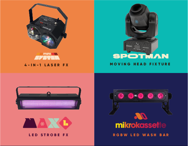 Mixtape Series by Blizzard - LED Lighting Fixtures Designed For Your Stage - Moving Head, Laser Party Light, Strobe FX, Wash Light