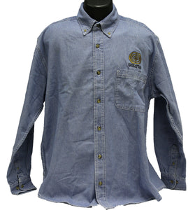 Duncarron Medievel Fort Embroidered Blue Denim Shirt