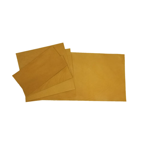 New Premium Veg Tan Cow Hide Leather Lightweight 4-5oz. Leather Panels
