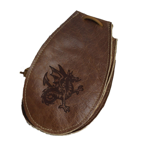 Handmade Six-Sided Leather Bag debossed with Saor Patrol Logo