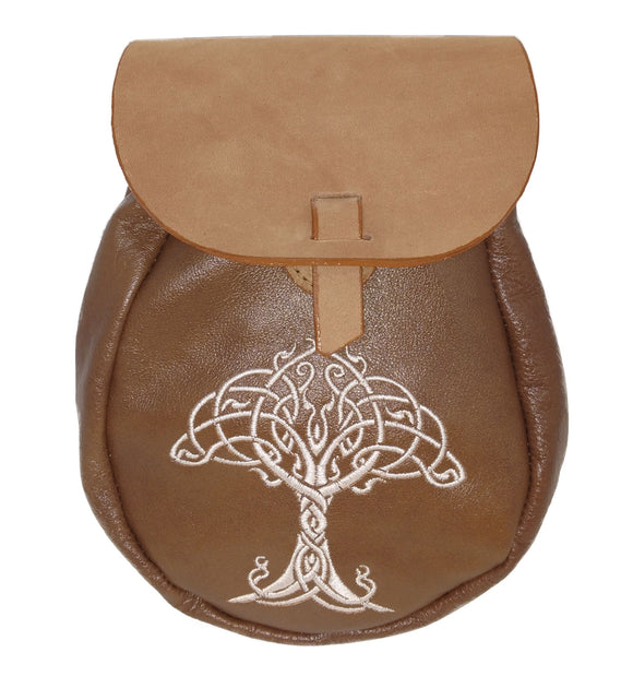 Oval Drop Belt Celtic Tree of Life Design Sporran