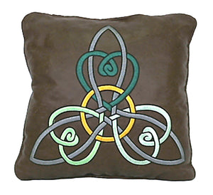 Handmade Genuine Leather Celtic Knot Design Decorative Accent Throw Pillow Cover