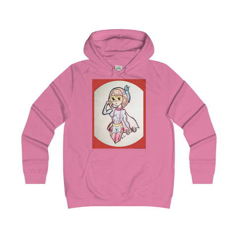 Laila L Super Female-Girlie College Hoodie