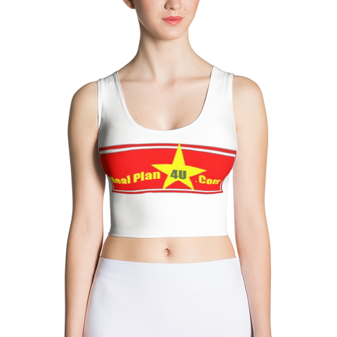 MP4U(red logo) Cut & Sew Crop Top