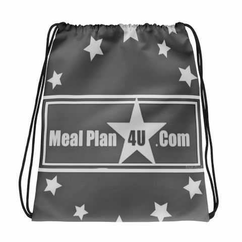 MP4U(Grey)Star Drawstring bag