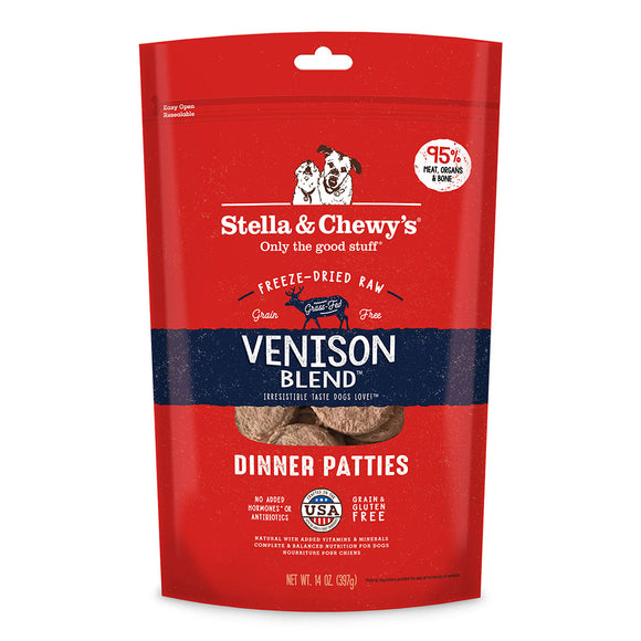Stella & Chewy's Venison Blend Freeze-Dried Raw Dinner Patties