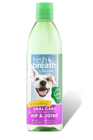 TROPICLEAN ORAL CARE WATER ADDITIVE PLUS HIP AND JOINT FOR DOGS