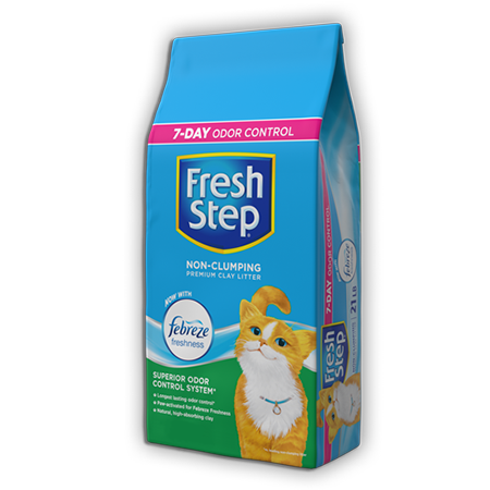 FRESH STEP PREMIUM NON-CLUMPING LITTER NOW WITH FEBREZE