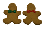 Preppy Puppy Christmas GingerBread Man