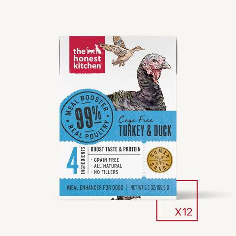 Honest Kitchen MEAL BOOSTER - 99% TURKEY & DUCK