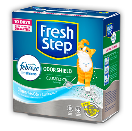 FRESH STEP ODOR SHIELD LITTER WITH THE POWER OF FEBREZE