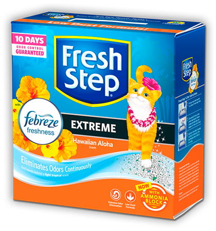 FRESH STEP HAWAIIAN ALOHA SCENTED LITTER WITH THE POWER OF FEBREZE