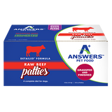 ANSWERS DOG FROZEN NIBBLES & PATTIES DETAILED BEEF