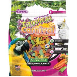 Brown's Tropical Carnival® ZOO•VITAL® Rice-Based Large Parrot & Macaw Pellets
