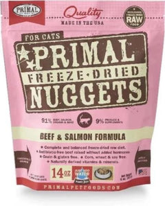 Primal Freeze Dried Beef & Salmon 14oz For Cats