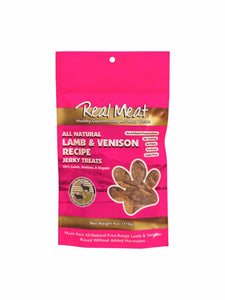 Real Meat All-Natural Lamb & Venison Recipe Jerky Treats